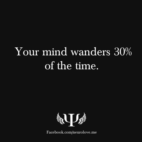 psych-facts:  Your mind wanders 30% of the time.  What Tricks Does Your Mind Play on You?