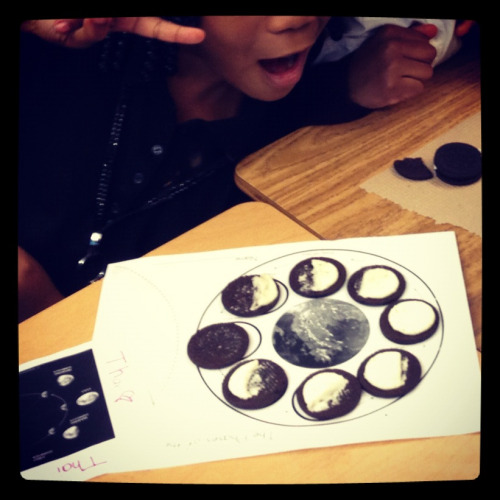Great way to show moon phases!!!!