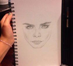 It's a work in progress but yeah I'm drawing Cara c: