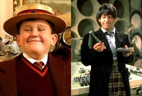 Harry Melling (Dudley Dursley) is the grandson of Patrick Troughton (second doctor)WHAT?! Crazy!!!