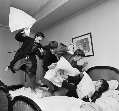 Beatles pillow fight.
