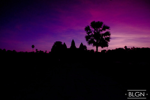 Silhouette of the Angkor Wat