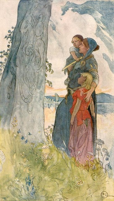ictidomys:  Viking Woman. By Carl Larsson.