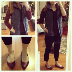 {What I Wore Today: Monday, December 3, 2012} I'm not doing this because I thought my outfit today was particularly cute, because it isn't my favorite outfit ever. Instead, it's because this will never happen again: It's December 3rd, and it was 70 degrees in Chicago. This is all I wore today while outside….and I was sweating when I walked from the bus to work. Please note the lack of socks.