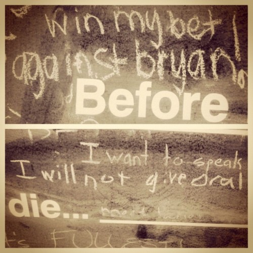 @sheamusss knows how to cheer me up :) #picstitch #beforeidie #bets #chalkboard