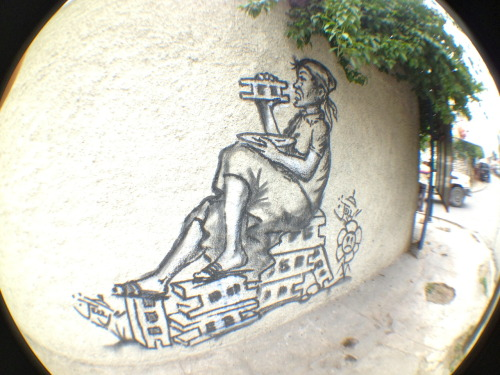 Haitian Street Art in Petionville Haiti 2012  Times are still hard, the writing is on the wall…