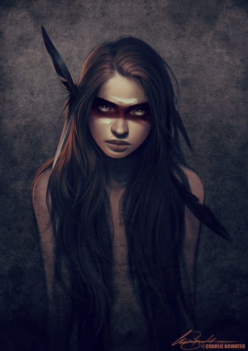 Howl, by Charlie Bowater  I know this is not in line with my usual posts, but it was too beautiful to pass up.
