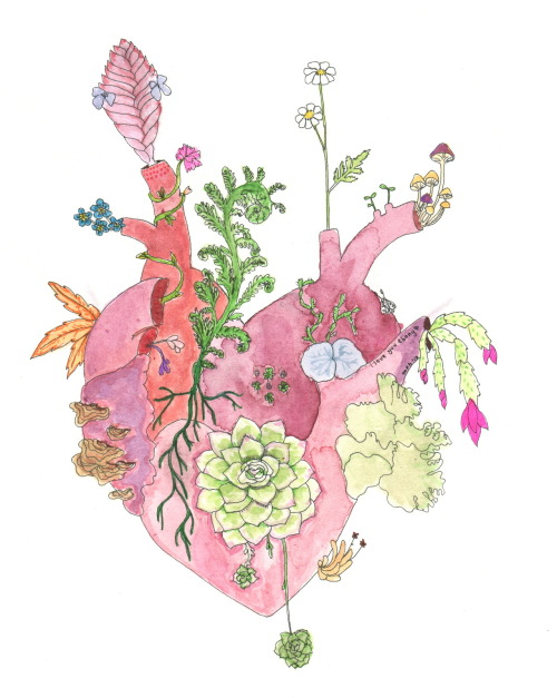 i-am-madelynn:   today i drew a plant heart for my little plant fairyi love you eb ♥