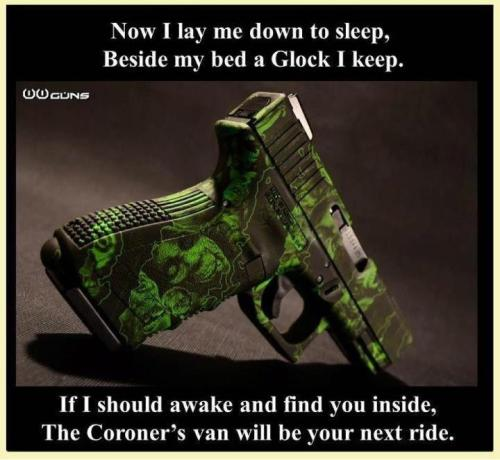Only I sleep with a Sig.