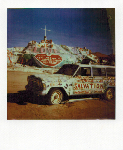 Salvation Mountain, Niland, California. December 2012. PX 680 Color Film