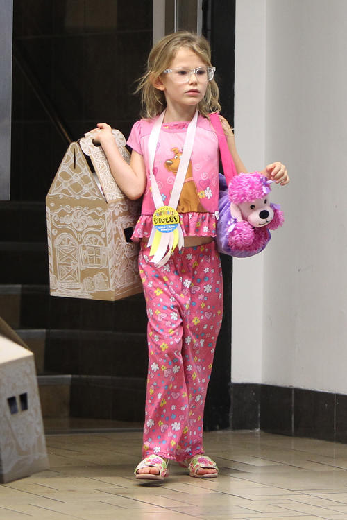 This is what Violet Affleck wore to her birthday party. Brave.