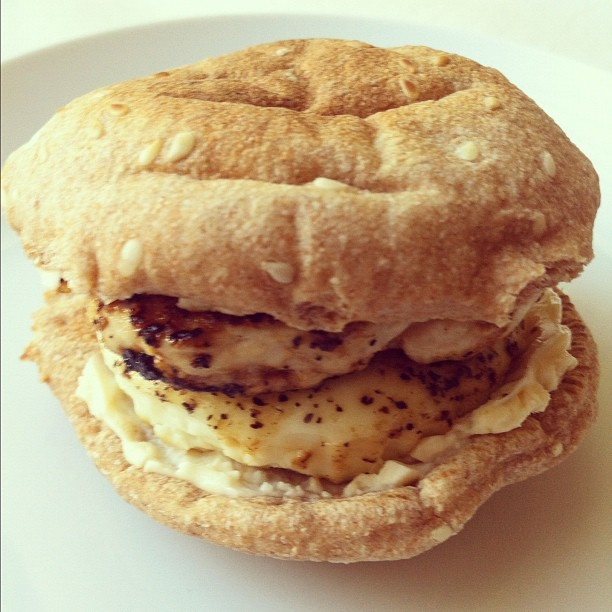 Turkey Breast Egg White and Swiss Breakfast Sandwich 161 calories Click here for recipe!