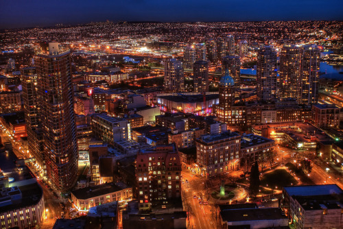 loveethiscity:  Vancouver by Night (HDR) (by Brandon Godfrey)