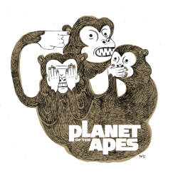 """The Planet of the Apes"" drawing."