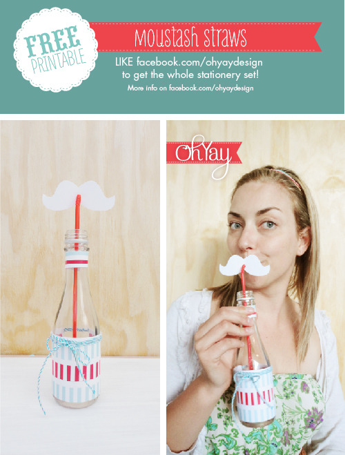 Make your own DIY santa moustache straws! Request the free printables from the Oh Yay page and you are sorted with this and a whole lot more for your pretty christmas party!