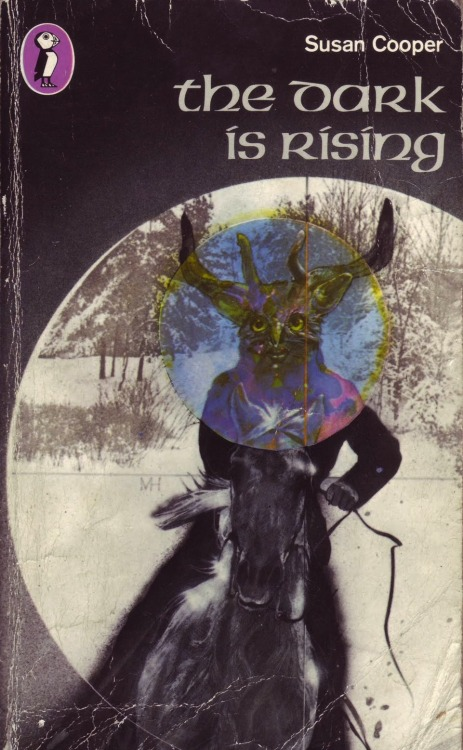 The Dark Is Rising by Susan Cooper (1973; 2nd UK paperback ed.); cover artist unknown.