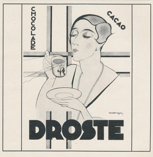 artdecoblog:  adv Droste 1931 by janwillemsen on Flickr.