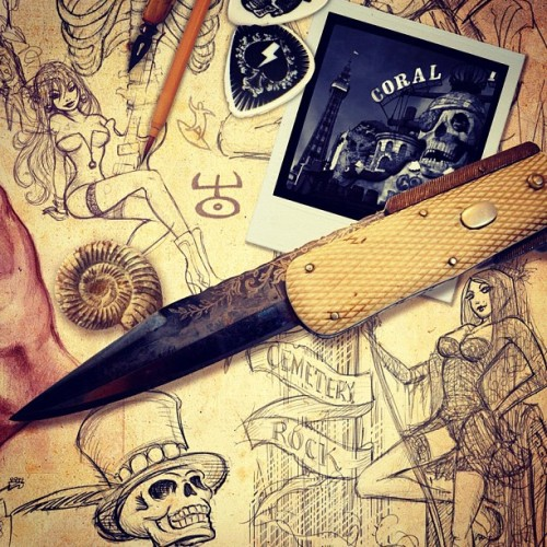 stevecox1:  #skulls #knife #ink #tattoo #sketch #bone #pinup