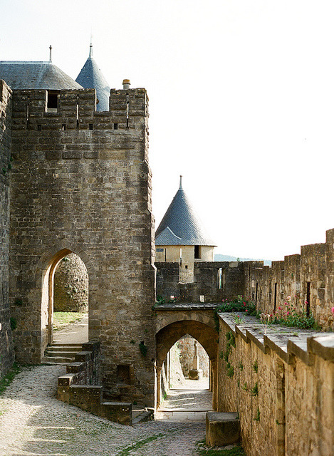 | ♕ |  Carcassonne gateway - France  | by © Kallie Brynn | via ysvoice