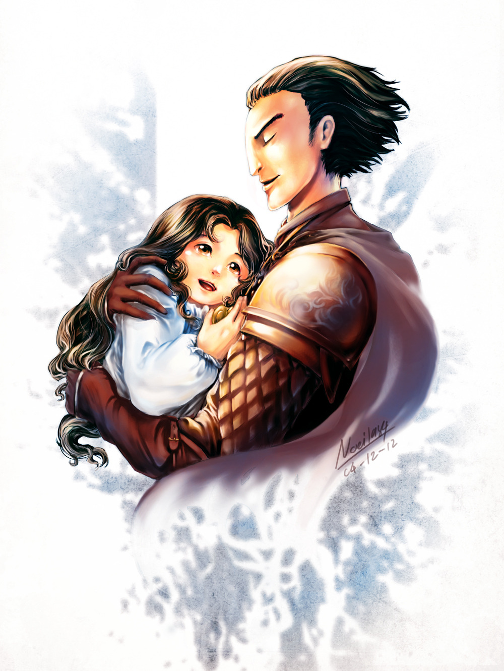 [tGoC / RotG] Kozmotis Pitchiner and his daughter by *noei1984  Happy Thai Father's Day (5th Dec) !!