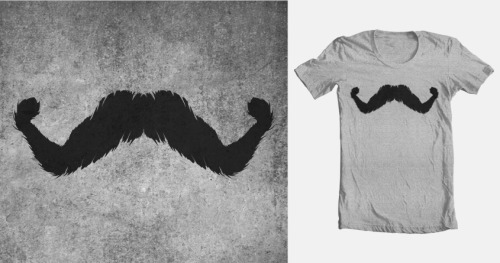 Bronstache, inspired by my movie poster for NWR's Bronson, is now up for scoring on Threadless. Let's vote people! 7 days left.