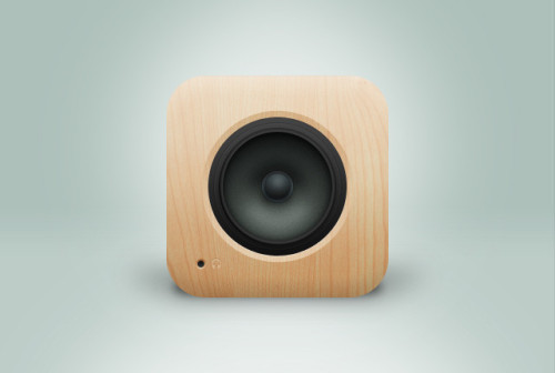 Wood music player app icon