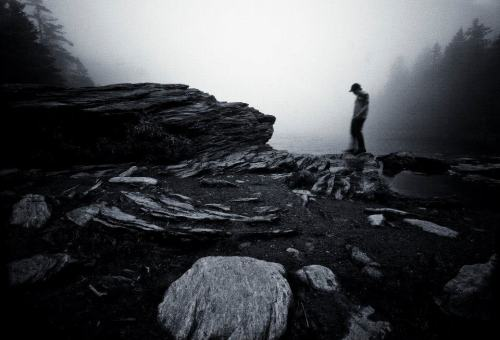 Also from my smugglers notch shoot, I had my friend Matt walk in front of the camera with a slower shutter speed. I like the atmosphere the fog creates, and the slower shutter speed made him appear more at home in this environment.