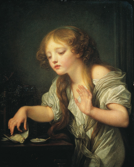 a-midwinter-nights-tea:  Jean Baptiste Greuze, l'Oiseau mort