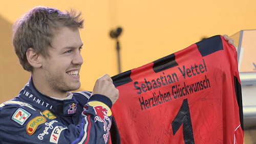 Sebastian Vettel's achievements were recognised by his beloved football club, Eintracht Frankfurt as he was made honorary member of the club.  He was conferenced in for the announcement as he was in Salzburg. Frankfurt's club president Peter Fischer announced the membership of the Weltmeister.