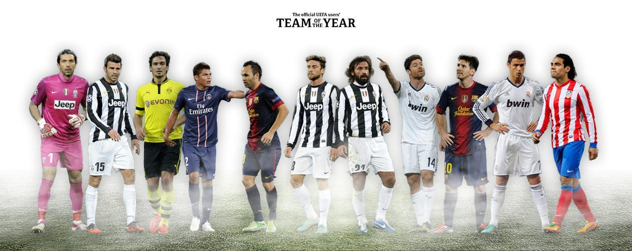 My Uefa team of the year it has everything that a modern football should have technique,skill and strength
