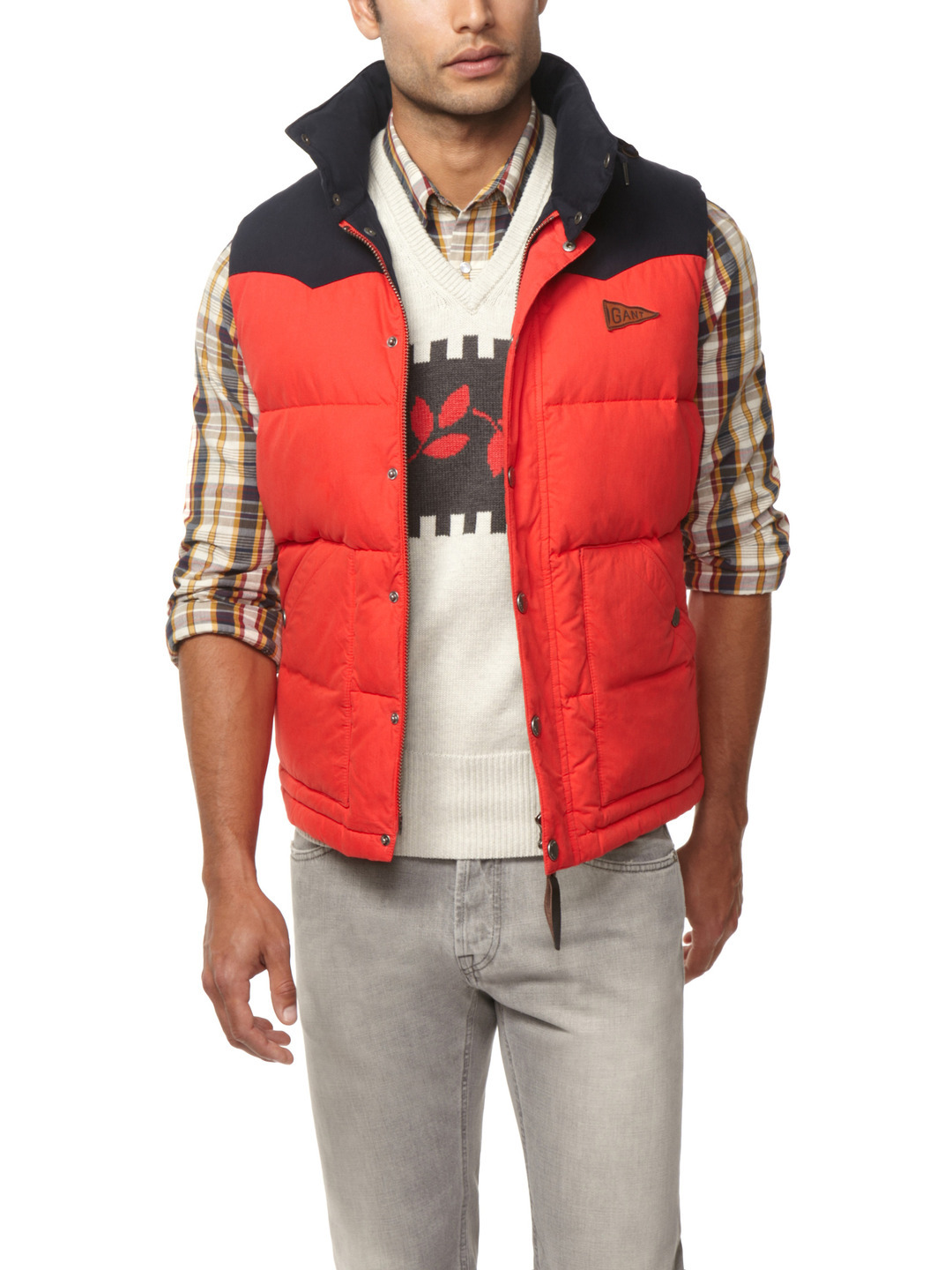 OUR PICK OF THE WEEK- GANT by Michael Bastian Down Vest Before y'all go lamenting how every #mahnswear jerk-off on Tumblr seems to be covering the Park & Bond 30% off sale, I suggest you check your shit and straight face realities, B. We are LAZAY: so fucking slothful that we be adding syllables to this joint.  A 30 % off site wide sale? At Park & Bond? How couldn't you cover that shit? That's like menswear crack cocaine! Don't get me wrong, the sort of people who can afford two thousand dollar topcoats don't actually want to save their blood money but use sales to aid in the delusion that they are forward thinking, well informed fashion insiders (that are incidentally better than everyone else). Oh are you still with me on this tangent? Right…well, here's our pick of the week. Before anyone mercs on my Gant love just remember: I'm trying to save you those pennies WHILE delivering the goods, shit is tough sir. This GANT by Michael 'I Am Americana' Basty down vest may not be on par with say this alternative, but despite its polyester/wool blend made-in-Chinaland status is an effective layer for both spring and winter. In a washed out red and navy colour combination this will team as appropriately with your pensioner swag sweater as it does a navy jacket or long sleeve polo.  Have I mentioned they've taken $127 off the original price and that it currently is available in all sizes (S-XL)? Seriously how often do bloggers actually link you to shit that isn't in the most ridiculous leftover sizes: like 26.3 and a 1/7? What is this, down quilting for my balls?  Available from Park & Bond STYLETERNITY