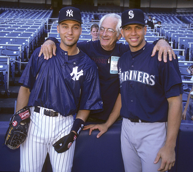 Shortstops Derek Jeter and Alex Rodriguez pose with a fan before a 1997 Yankees-Mariners game. Rodriguez will undergo surgery on his left hip and could be sidelined until the All-Star game. (Chuck Solomon/SI) GALLERY: Rare Photos of Derek Jeter | Alex RodriguezLEMIRE: Outfielder choices, A-Rod hot topics at winter meetings