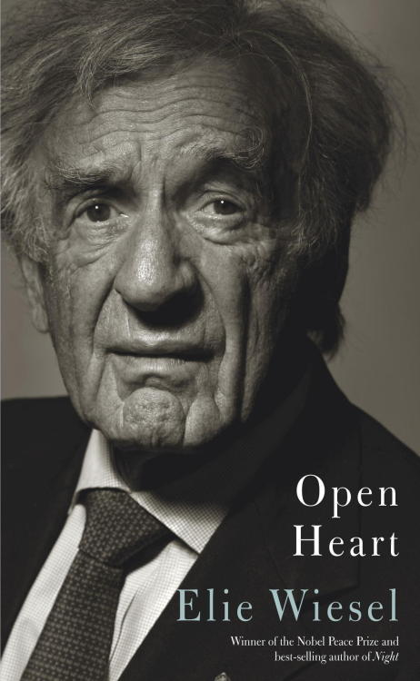 "aaknopf:   June 16, 2011.""It's your heart,"" says the gastroenterologist after performing an endoscopy on me.I am surprised: ""Not my stomach?""  Open Heart (Knopf, December 2012) is Elie Wiesel's reflection on eighty-two years of writing, teaching, marriage, family, despair, and hope.   Can't wait for his collaboration with the POTUS. :)"