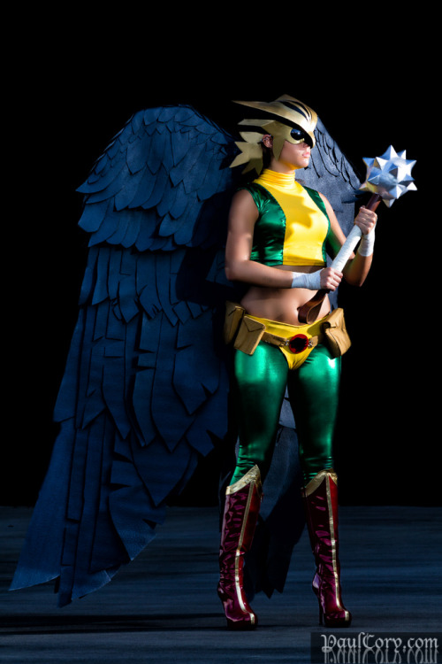 girlsofcosplay:  comicheroines:  Hawkgirl Cosplay  Brilliant costuming.   Shiera…is that you!?
