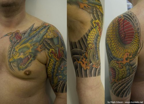 Dave's dragon sleeve! by Mark Gibson