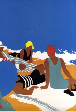 East Coast Joys. Detail from a poster series by Tom Purvis. Found at Full Table.