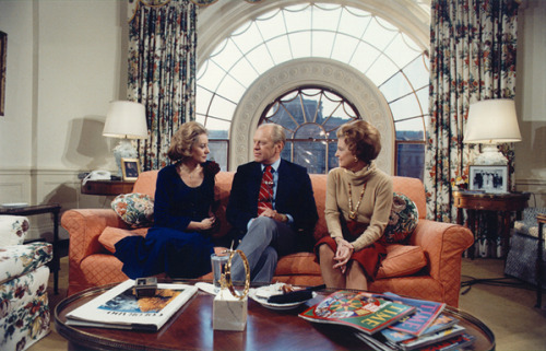 ourpresidents:  Barbara Walters interviews President Gerald R. Ford and Betty Ford.  December 4, 1976.