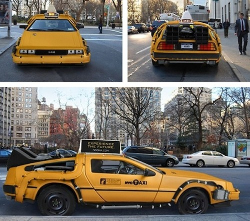 This DeLorean NYC taxi is AWESOME! Sadly, it's not real. Here's our cool, exclusive story on how this project came to be.