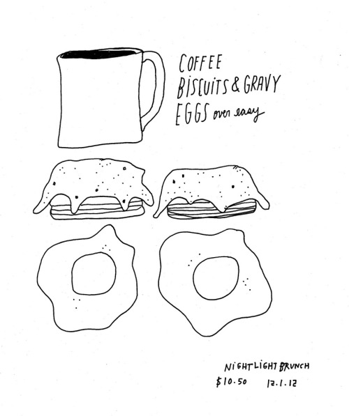 Daily Drawing for 12.01.12  Biscuits and Gravy, Baby.