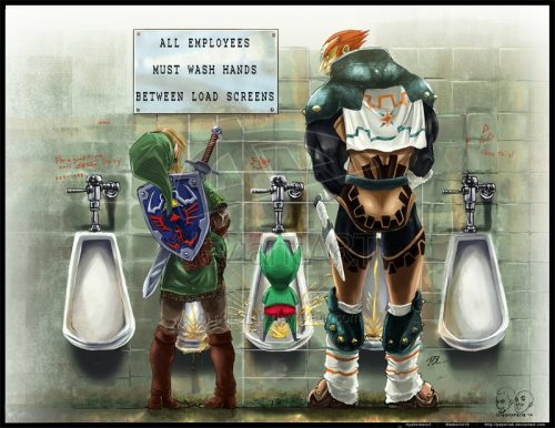alphaomegasin:  Legend of Zelda Piss Break