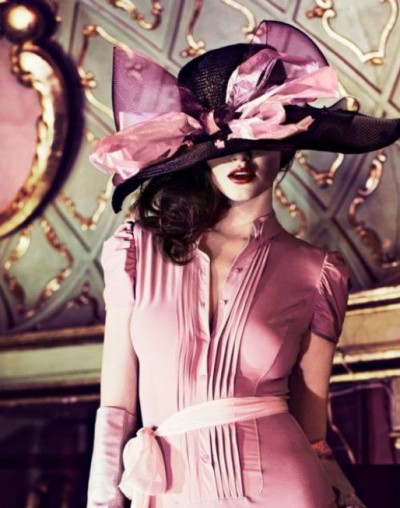 pink hat and dress …