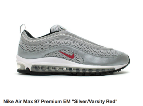 The most perfect Air Max shoe, the Air Max 97.