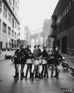 vogue:  Photographed by Peter Lindbergh, Vogue, September 1991 My Year in Living Dangerously: Learning to Ride a Motorcycle See the slideshow