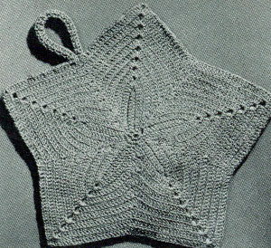 star pattern here (schema) > http://freevintagecrochet.com/potholder-pattern/coats196/star-potholder