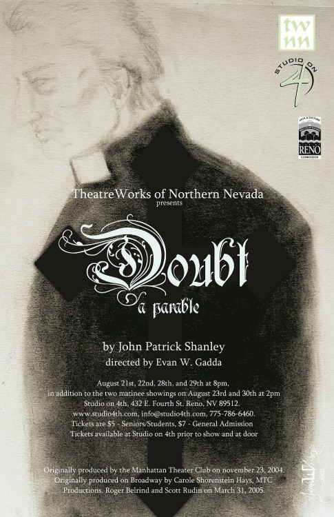 DOUBT, a parable. by John Patrick Shanley. Directed by Evan W. Gadda.