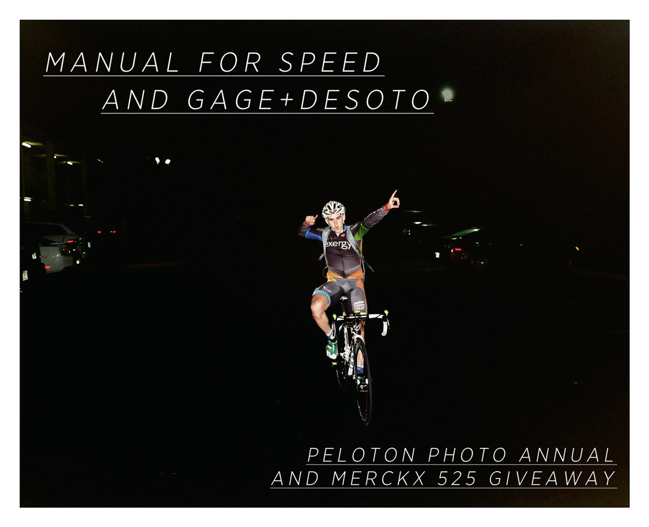 manualforspeed:  To celebrate our inclusion in the Peloton Photo Annual, Manual for Speed has teamed up with Gage+DeSoto to give away copies of the Photo Annual and a copy of Merckx 525 (because it's so awesome!). All you have to do is REBLOG (liking wont cut it) this image to be entered. Make sure you're friends with us on Facebook and follow our Twitter (@manualforspeed) as well. And definitely check out G+D's store, your one-stop-shop for road cycling culture.   Winners will be chosen Friday.   Good luck!