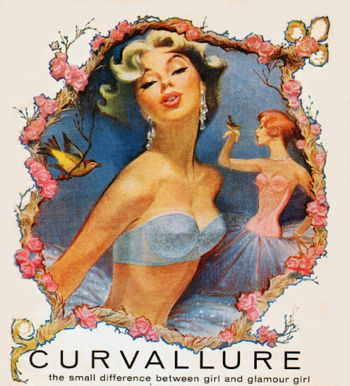 vintagegal:  Vintage ad for 'Curvallure' Bras by Jantzen, 1951
