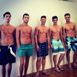Jonathan and Kevin Sampaio, Caleb Halstead, Ryan Bertroche and Mikus Lasmanis