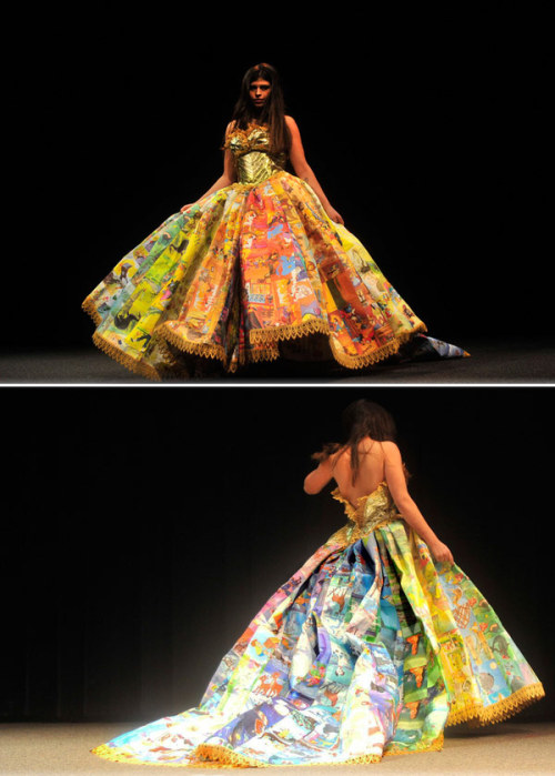 Above: A dress literally made out of books. Click on it to see more of our literary fashions for book nerds.