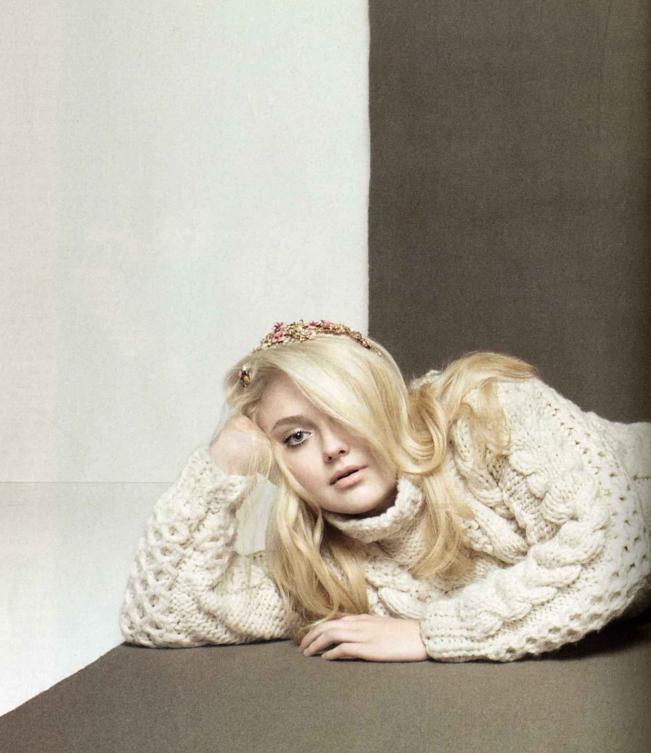 officialrodarte:  Dakota Fanning wears Rodarte's FW12 hand knit sweater in InStyle UK.